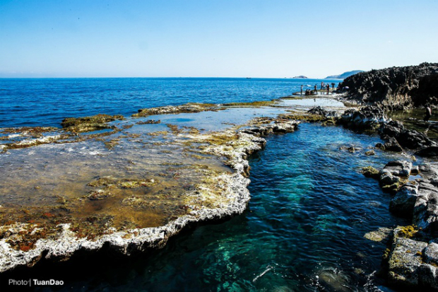 Hang Rai features the largest ancient coral reef in Vietnam.