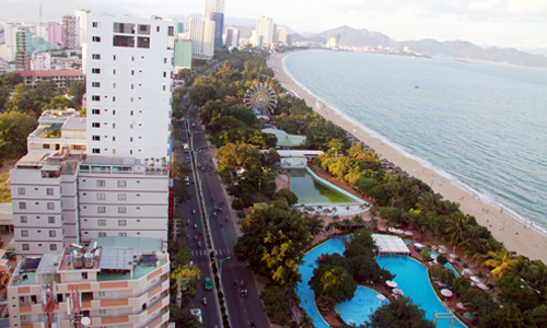 Nha Trang is a famous tourist attraction in the country, which receive about 250,000 tourists each month