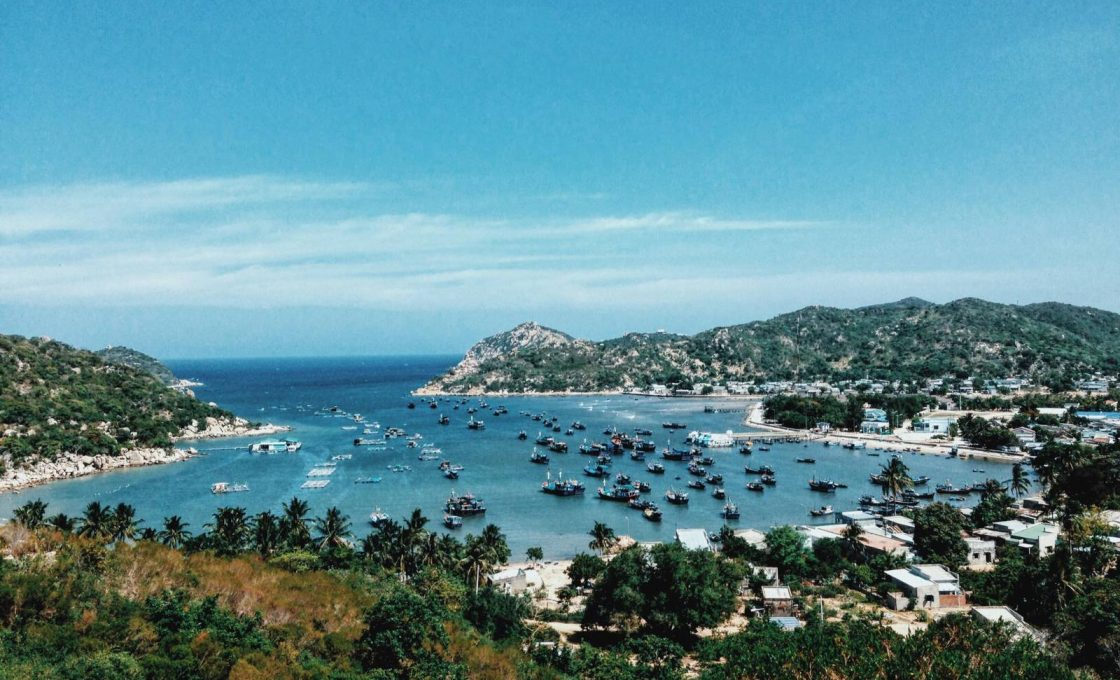 Binh Tien beach on the border of Ninh Thuan and Khanh Hoa provinces, Vietnam. Photo by VnExpress