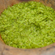 Tu Le ground green rice flakes.